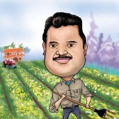 Naga Farmer Caricature