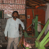 Small factory using Husk Power Systems, East Chamaparan, Bihar