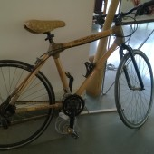 Hand crafted Bamboo bicycle. National Institute of Design (NID), Bangalore