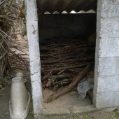 Govt built Toilet used for wood storage
