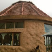 Earthship, house built with waste, Kodaikanal