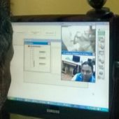 Viji 12th pass managing the center.Telemedicine Center, Thaugol, Kariapatti, Tamil Nadu